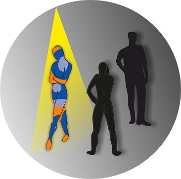 """Logo der Vorlesung des Kompetenzzentrums """"Ein Licht auf das Seltene werfen"""""""